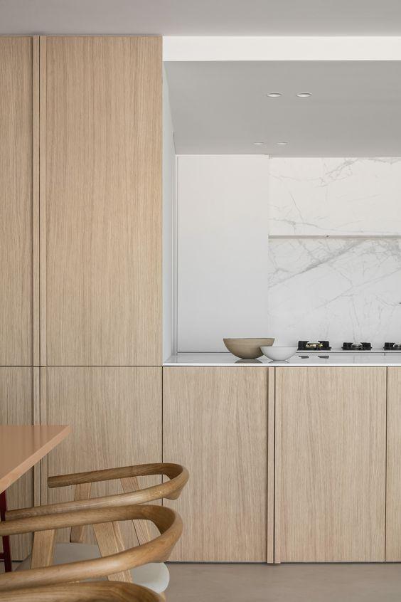 hout materiaal interieur keuken