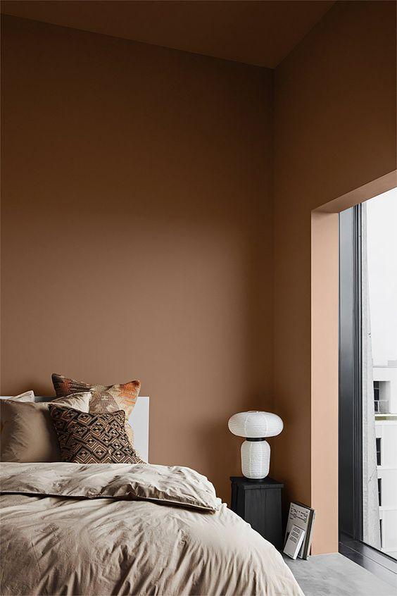 bruine tinten in de slaapkamer